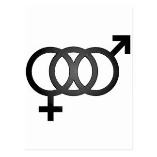 Black Bisexual Symbol Postcard