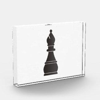 Black bishop chess piece acrylic award