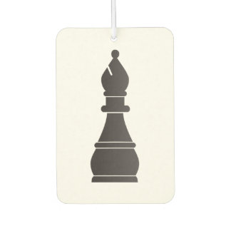 Black bishop chess piece air freshener
