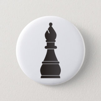 Black bishop chess piece button