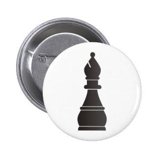 Black bishop chess piece button