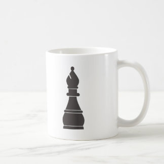 Black bishop chess piece coffee mug