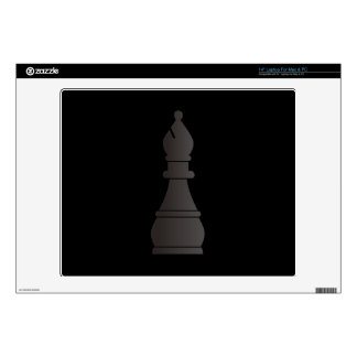 """Black bishop chess piece decal for 14"""" laptop"""