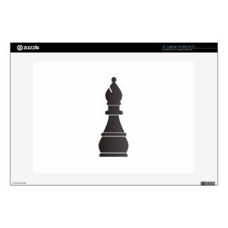 "Black bishop chess piece decals for 13"" laptops"