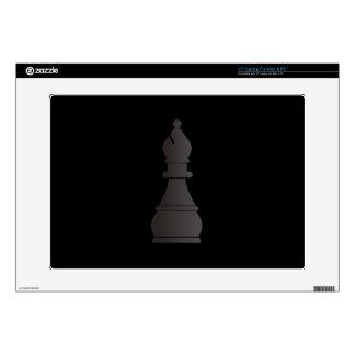 Black bishop chess piece decals for laptops