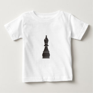 Black bishop chess piece infant t-shirt