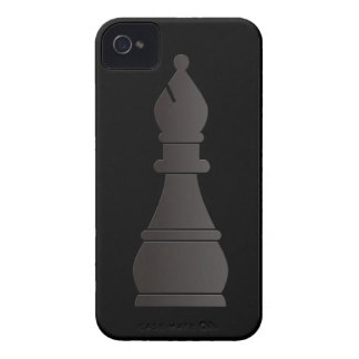 Black bishop chess piece iPhone 4 cover