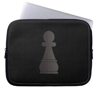 Black bishop chess piece laptop sleeves