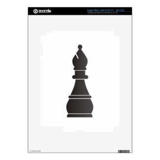 Black bishop chess piece skin for iPad 3