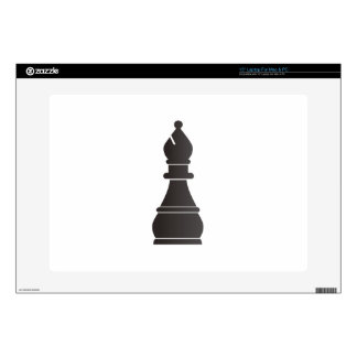 "Black bishop chess piece skins for 15"" laptops"