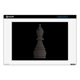 Black bishop chess piece skins for laptops