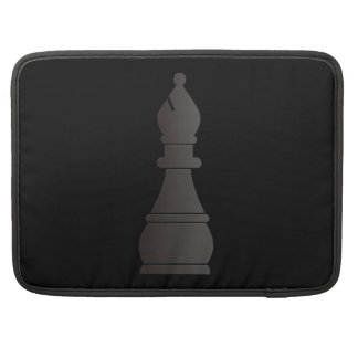 Black bishop chess piece sleeves for MacBooks