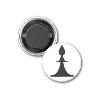 black bishop (you need 2) 1 inch round magnet