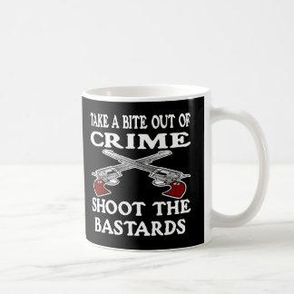 Black Bite Out Crime Bastards Coffee Mug