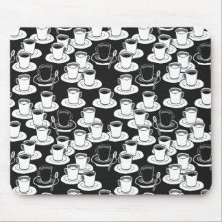 black black coffee time mouse pad