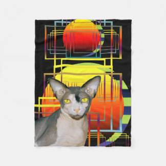 Black Blanket | Sphynx Cat Ninja Crazy Cat Design