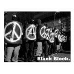 black block post card