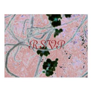 Black Blossoms, RSVP Post Cards