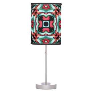 black blue abstract colorburst accent table lamp