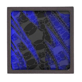 Black Blue Abstract Keepsake Box