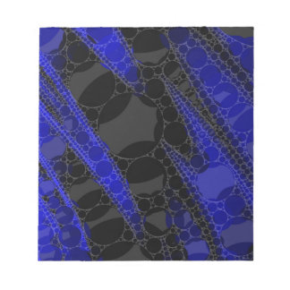 Black Blue Abstract Notepad