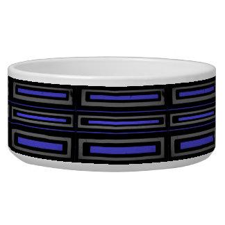 Black, blue and gray Pet Bowl
