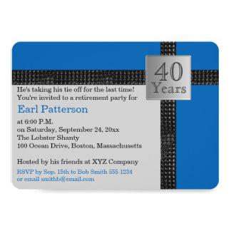Black, Blue, and Gray Retirement Invitation