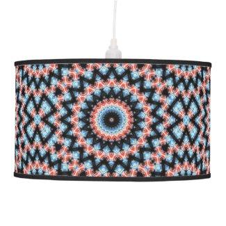 Black, blue and red Mandala Star Ceiling Lamp