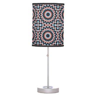 Black, blue and red Mandala Star Table Lamp