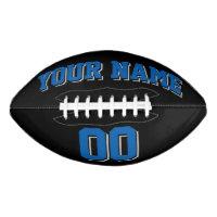 BLACK BLUE AND SILVER GRAY Custom Football