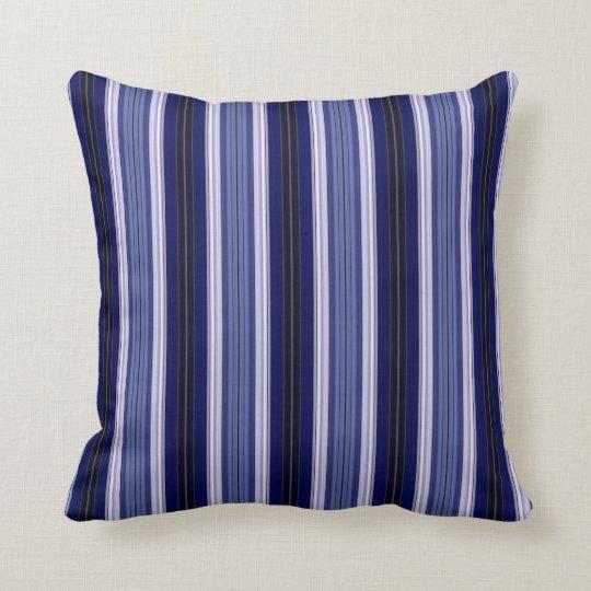 Black Blue And White Striped Throw Pillow Zazzle Com