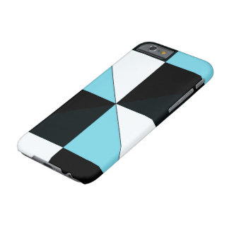 Black blue and white triangle pattern barely there iPhone 6 case