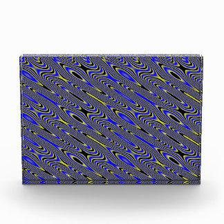 Black Blue and Yellow Swirly Pattern Decoration Award