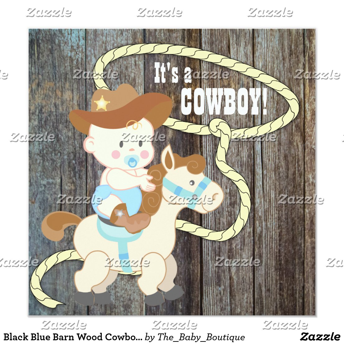 Black Blue Barn Wood Cowboy Baby Shower