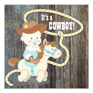 Black Blue Barn Wood Cowboy Baby Shower