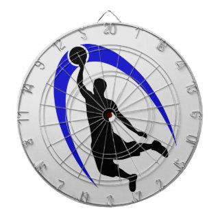 Black Blue Basketball Logo Dartboard
