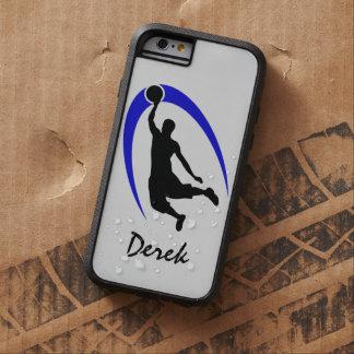 Black Blue Basketball Personalized Tough Xtreme iPhone 6 Case
