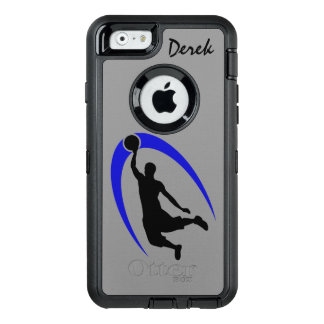 Black Blue Basketball Player OtterBox Defender iPhone Case