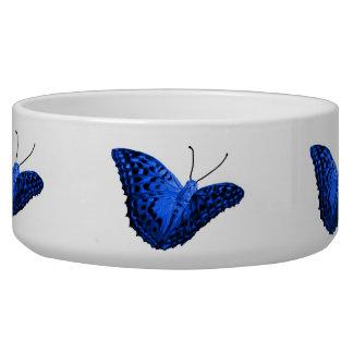black blue Butterfly Dog Bowl