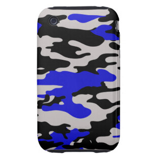 BLACK BLUE CAMO iPhone 3 TOUGH COVERS