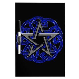 Black & Blue Celtic Pentagram Dry Erase Board