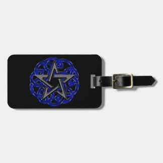 Black & Blue Celtic Pentagram Luggage Tag