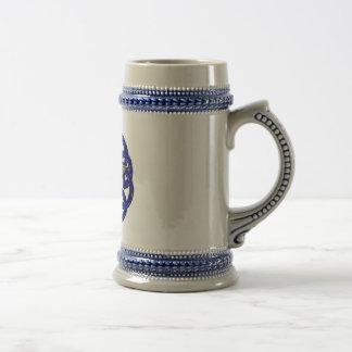 Black & Blue Celtic Pentagram Mug