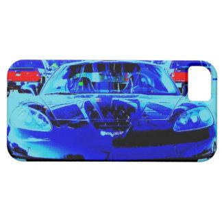 Black & Blue Corvette Z06 Altered Photo iPhone SE/5/5s Case