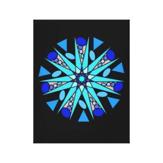 Black Blue Cosmic Geometric Star Print
