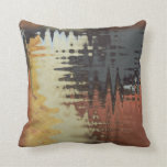 black blue cream yellow and rust mixture pillow