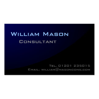 Black Blue Curved Professional Business Card