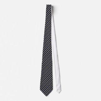 Black Blue Dark Gray Checkerboard Diagonal Tie