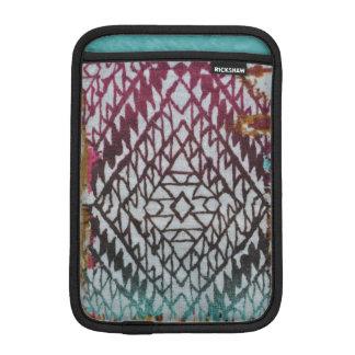Black & Blue Diamond Design iPad Mini Vertical iPad Mini Sleeve