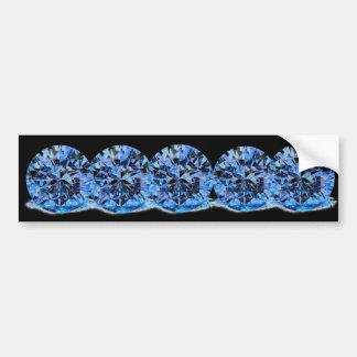 BLACK BLUE DIAMONDS BUMPER STICKER